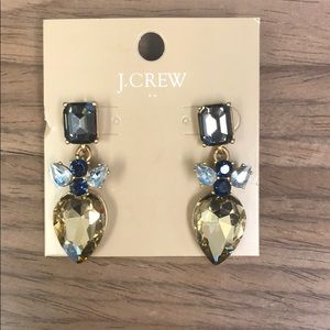J. Crew Factory stacked crystal dangle earrings